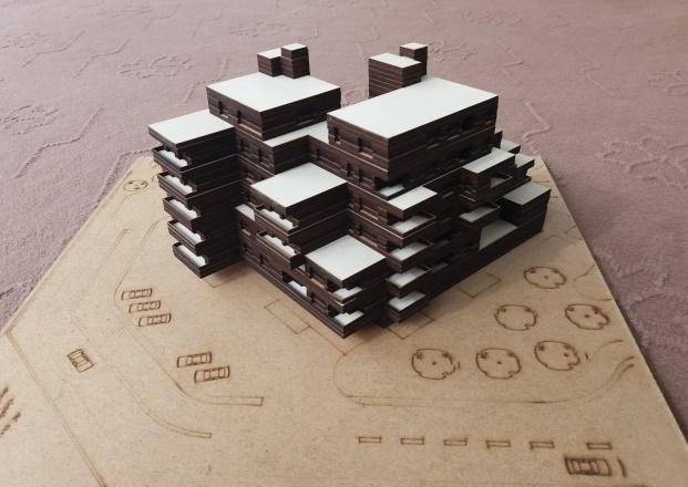 ماکت معماری مجتمع مسکونی+نقشه ها