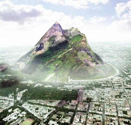 ساخت کوه مصنوعی در امارات