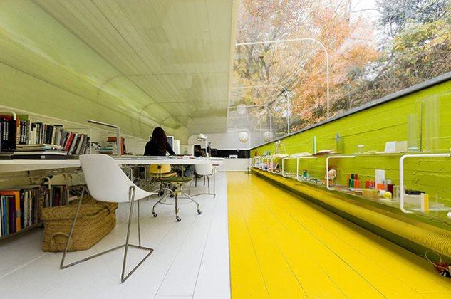 طراحی یک دفتر کار در جنگل+تصاویر