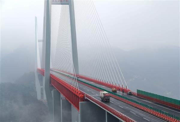 افتتاح مرتفعترین پل جهان در چین+تصاویر