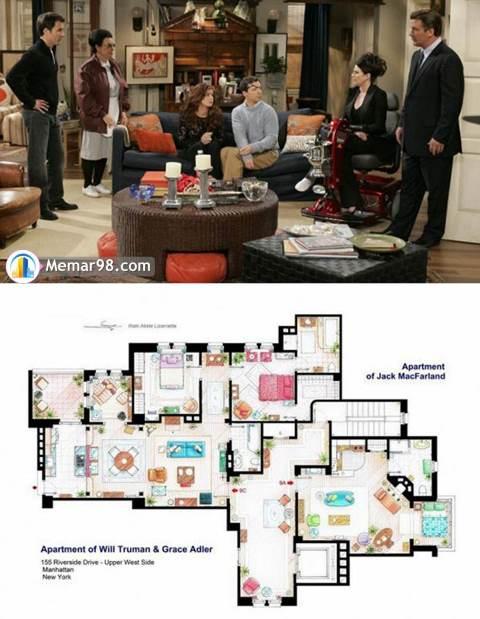 پلان خانه سریالهای معروف